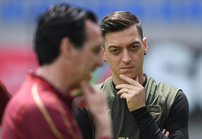 How Mesut Ozil reacted to Unai Emery's sacking at Arsenal's training ground