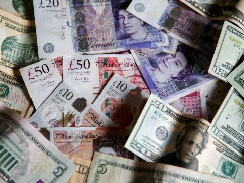What is the exchange rate of pounds to euros and dollars today after the General Election?