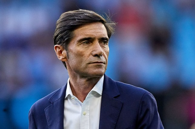 Arsenal managerial target Marcelino looks on