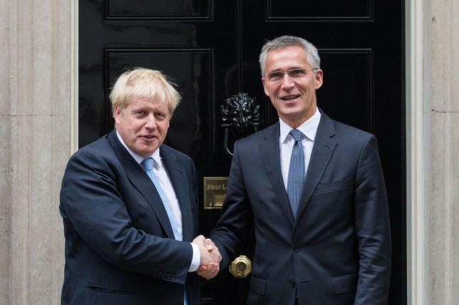 Prime Minister Boris Johnson with Nato Secretary General Jens Stoltenberg