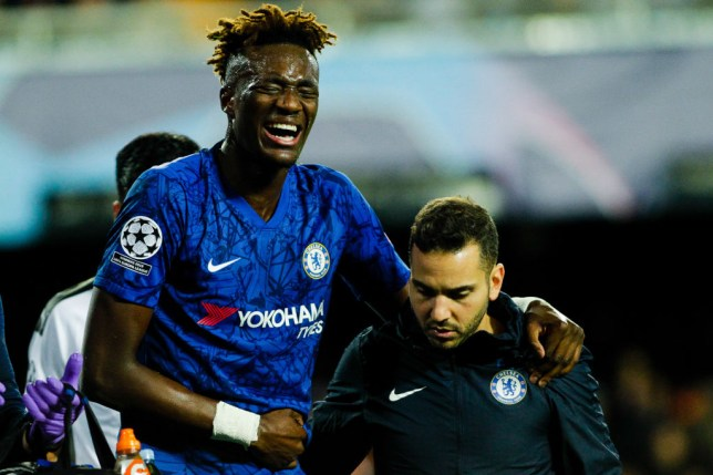 Tammy Abraham suffered a bruised hip during Chelsea's draw with Valencia in the Europa League