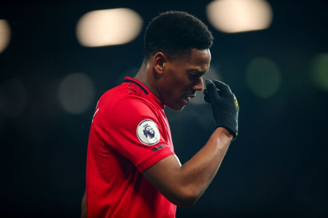 Anthony Martial looks set to miss Manchester United's clash with Manchester City