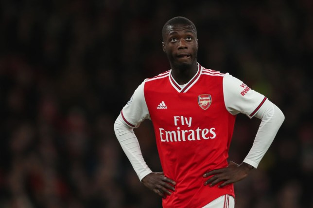 Nicholas Pepe is pictures during an Arsenal game