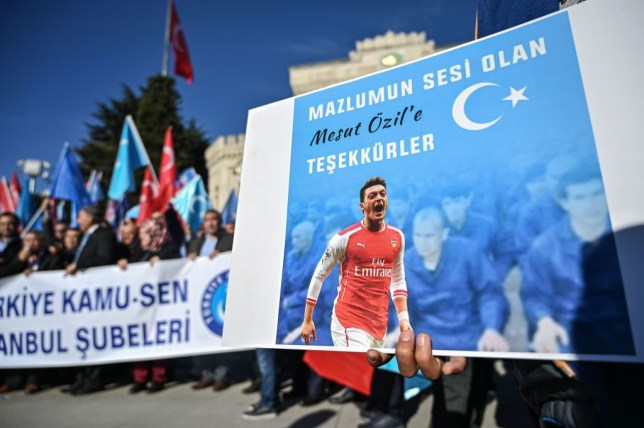 Mesut Ozil criticised China for their treatment of Uighur Muslims