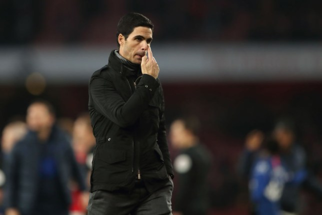 Mikel Arteta looks on after Arsenal's defeat to Chelsea