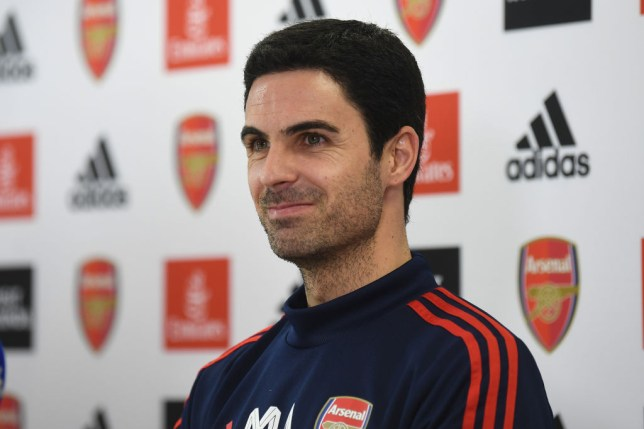 Arsenal coach Mikel Arteta speaks to the media