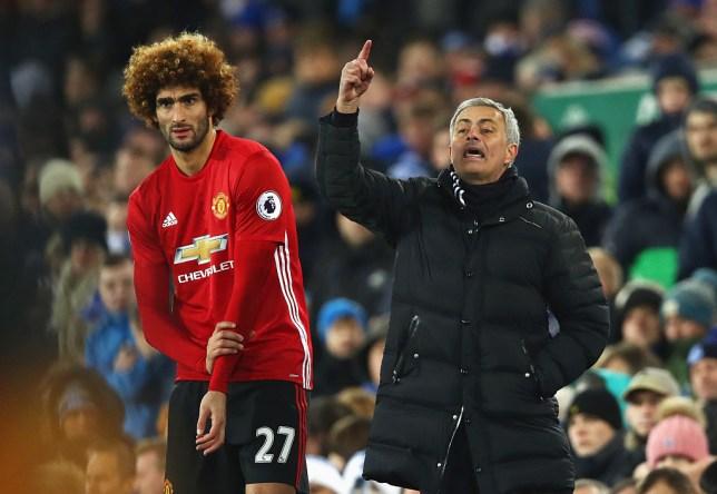 Jose Mourinho is targeting a reunion with Marouane Fellaini at Tottenham