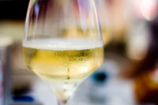 Close-Up Of Prosecco Wine In Glass