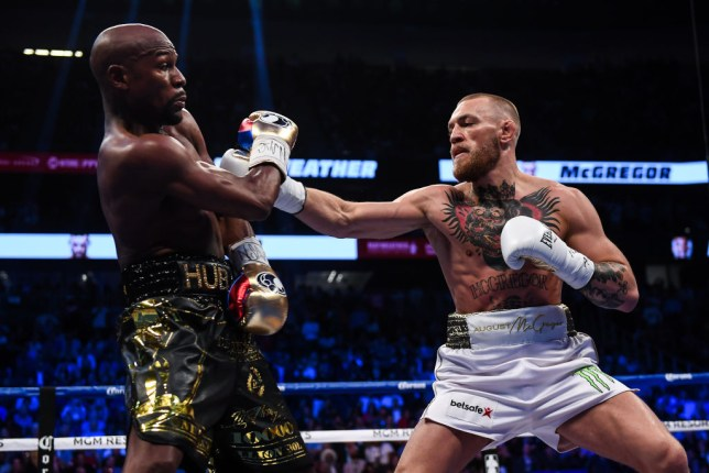 Floyd Mayweather fights Conor McGregor