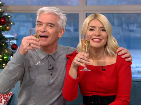 This Morning's Holly Willoughby and Phillip Schofield toast rift rumours goodbye with a glass of bubbly