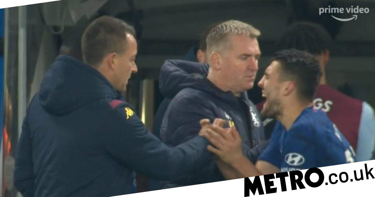John Terry crushes Mateo Kovacic's hand after Chelsea's win over Aston Villa