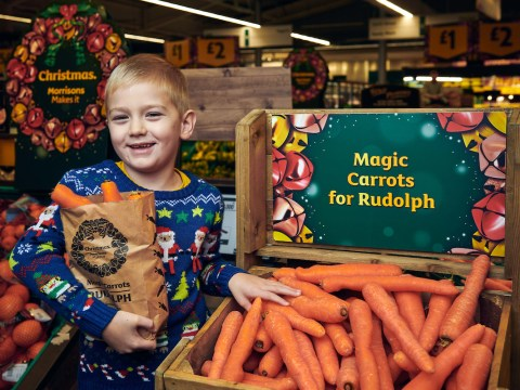 Morrisons is giving away free wonky carrots to leave out for Santa's reindeer