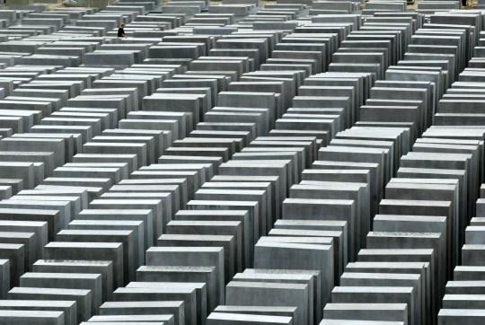 Vue générale du mémorial de l'Holocauste à Berlin