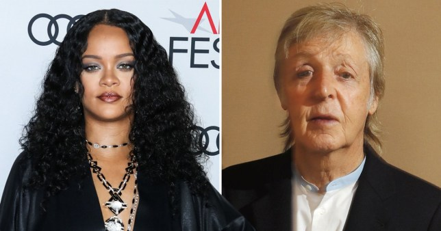 Rihanna and Paul McCartney