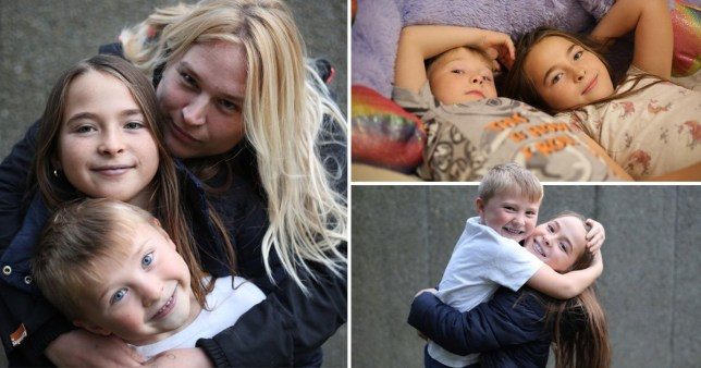 Mum Charlotte with daughter Courtney and son NJ, who appear in tonight's Dispatches (Picture: Channel 4)