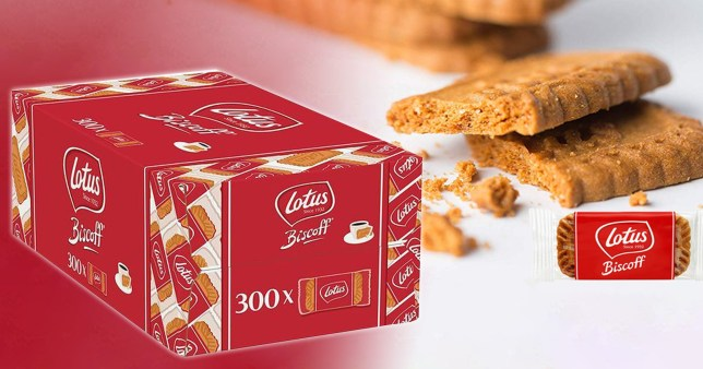 Picture of Lotus Biscoff biscuits available on Amazon for Cyber Monday