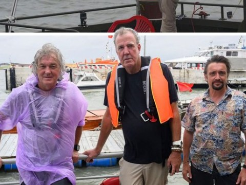 Jeremy Clarkson, James May and Richard Hammond are 'dripping wet seamen' in The Grand Tour BTS pics