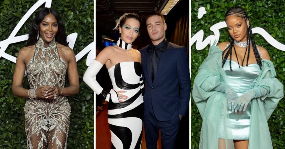 Naomi Campbell, Liam Payne, Rita Ora, Rihanna