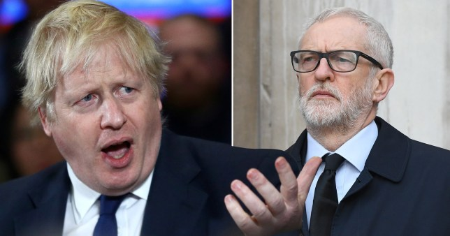 Tory leader Boris Johnson and Labour leader Jeremy Corbyn