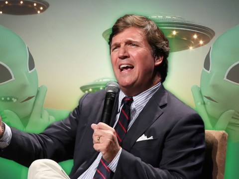 The US government has secretly collected 'physical evidence' of UFOs, Fox News host Tucker Carlson claims