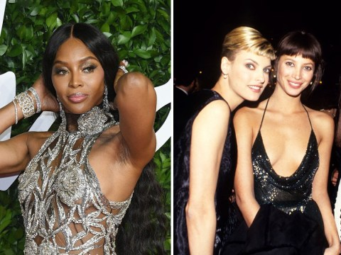 Naomi Campbell is in the WhatsApp group of dreams with fellow 90s supermodels from The Trinity