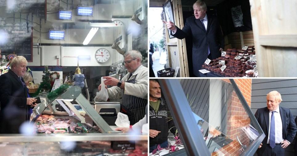 Pictures of Boris Johnson visiting Salisbury and Wilton Veterans Hub