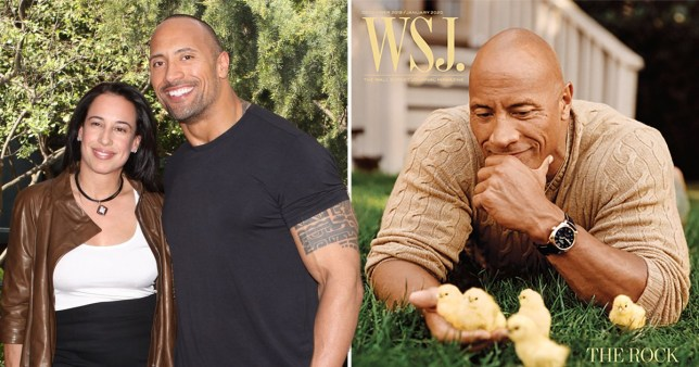 The Rock with ex-wife Dany Garcia