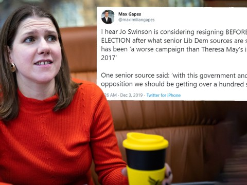 Fake tweet claims Jo Swinson plans to resign after 'humiliating' election campaign