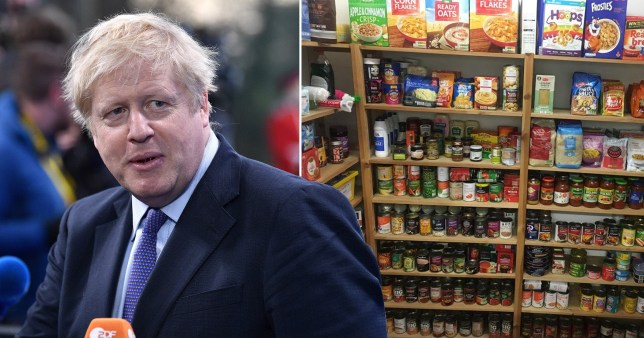 Boris Johnson admits it's 'wrong' that anyone should have to use a foodbank
