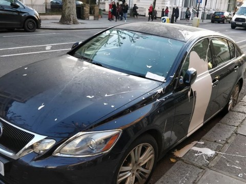 Car has egg and paint thrown at it for inconsiderate parking