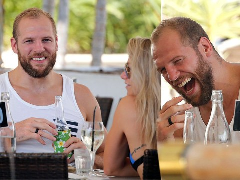 I'm A Celebrity's James Haskell laughs off bullying claims as he and Chloe Madeley come up for air after reuniting in Australia