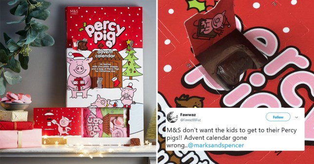 Customers fuming to discover Percy Pig advent calendars don't contain Percy Pigs