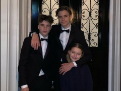 Romeo Beckham and his siblings are cooler than all of us as they pose in fancy suits