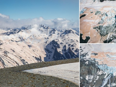 Glaciers in New Zealand are turning orange because of wildfires in Australia