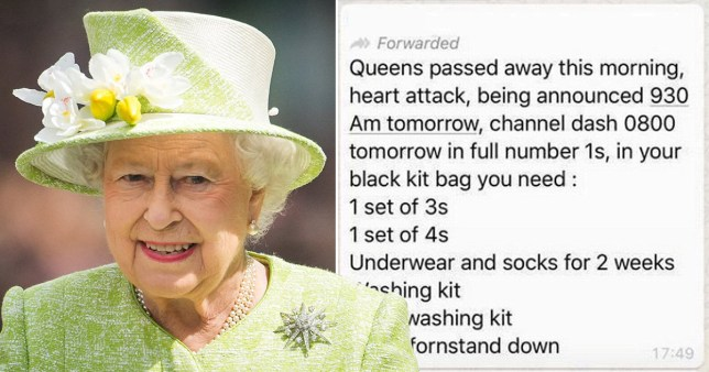 Queen and a whatsapp rumour that she had died