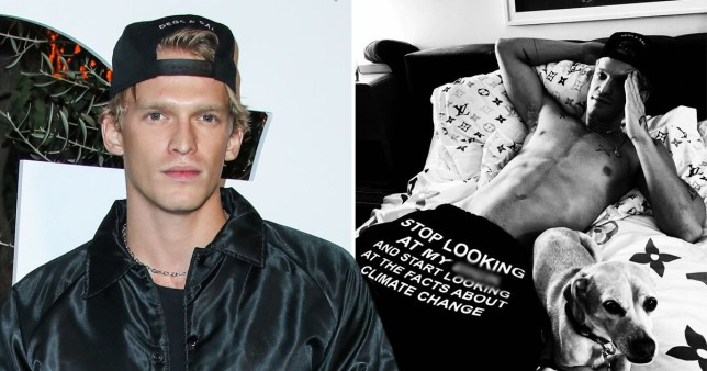 Cody Simpson manages to turn climate change awareness into something sexual