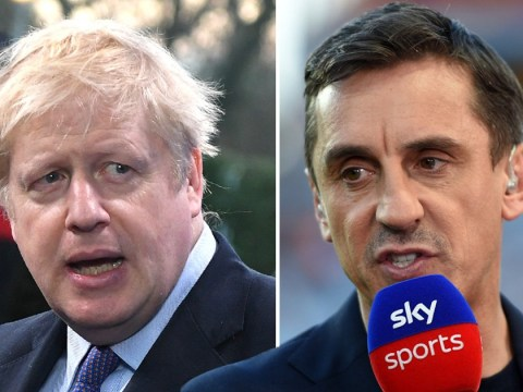 Gary Neville accuses Boris Johnson of fuelling racism after Man City fan abuse during Manchester United clash