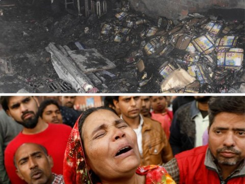 At least 43 sleeping workers dead in fire at New Delhi factory