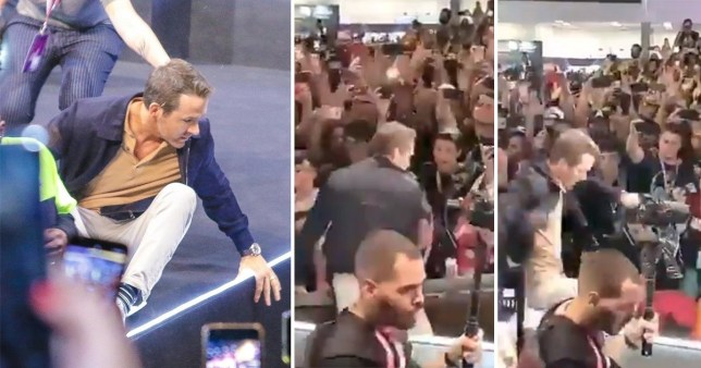 Ryan Reynolds speaks out after he's almost crushed by collapsing stage barrier at Brazil Comic-Con
