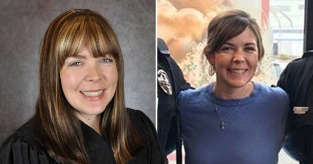Dawn Gentry is accused of having threesomes in her office with her secretary and a guitar player she hired to work in the court (Picture: Kentucky Administrative Office of the Courts; Erlanger Police Department)