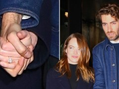 Emma Stone flashes engagement ring as she steps out with new fiance David McCary