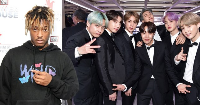 BTS pay tribute to collaborator Juice Wrld after rapper's shock death aged 21