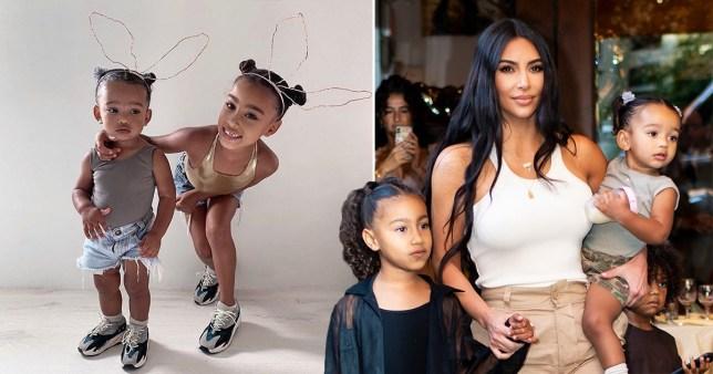 Kim Kardashian and her kids North and Chicago