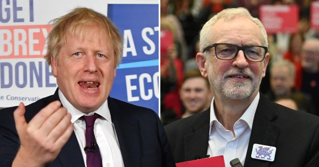 A comp image of Boris Johnson and Jeremy Corbyn