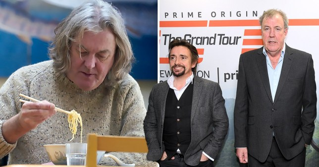 James May with Richard Hammond and Jeremy Clarkson