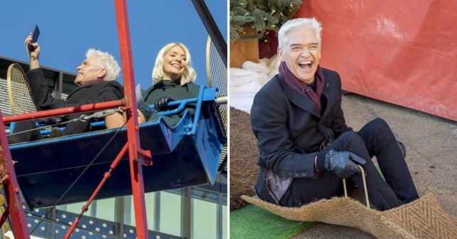 Holly Willoughby and Phillip Schofield take selfies as they brush off 'complaints' row