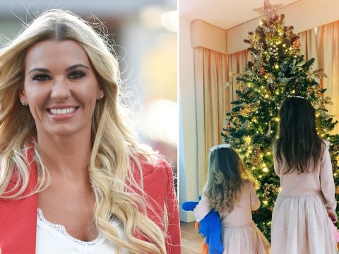 Christine McGuinness celebrates as she's able to put up first Christmas tree in years
