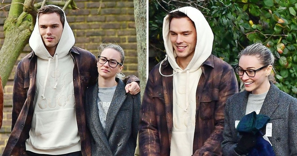 Nicholas Hoult goes for sweet stroll with girlfriend ...