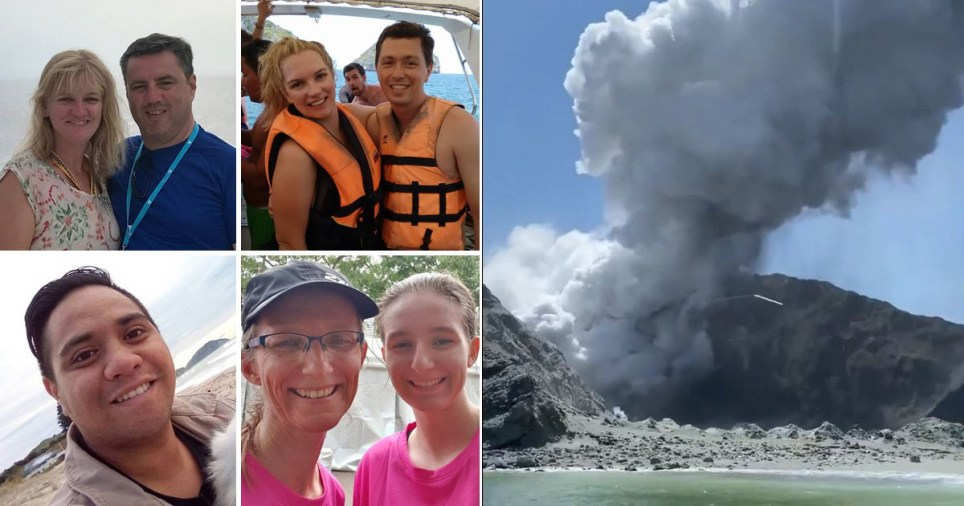 Caption: First pictures of the 13 dead and missing after New Zealand volcanic eruption