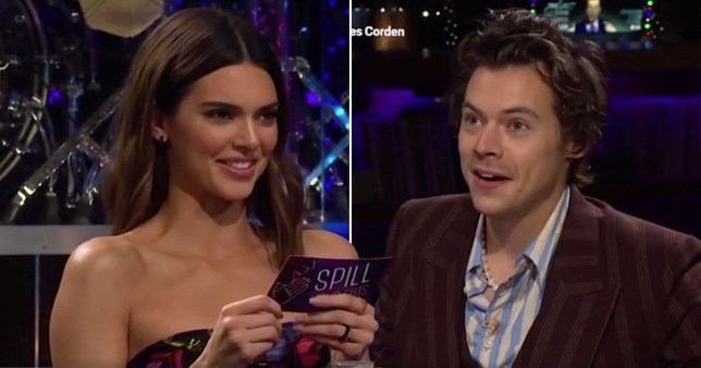Harry Styles and Kendall Jenner on The Late Late Show